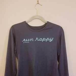 Fast dry athletic fabric long sleeve runner